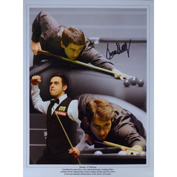 Ronnie O'Sullivan SIGNED 16x12 Photo Montage Autograph Darts Sport AFTAL COA Perfect Gift Memorabilia