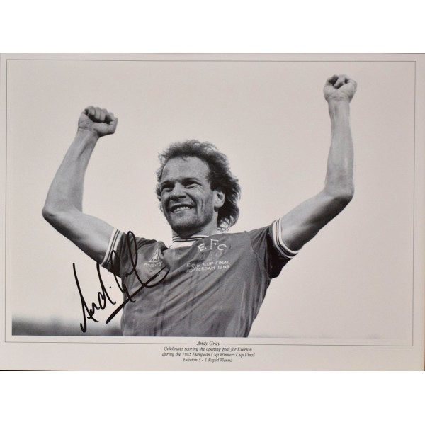 Andy Gray SIGNED 16x12 Photo Autograph Wolves Football AFTAL & COA