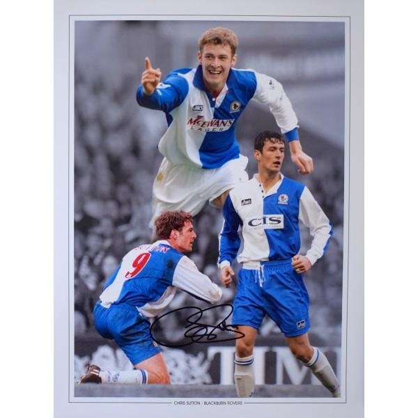 Chris Sutton SIGNED 16x12 Photo Autograph Blackburn Rovers Football AFTAL & COA