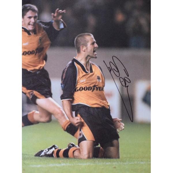 Steve Bull SIGNED 16x12 Photo Autograph Wolverhampton Football AFTAL & COA