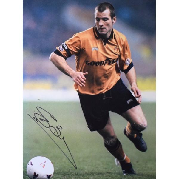 Steve Bull SIGNED 16x12 Photo Autograph Wolverhampton Wanderers AFTAL & COA Perfect Gift Memorabilia