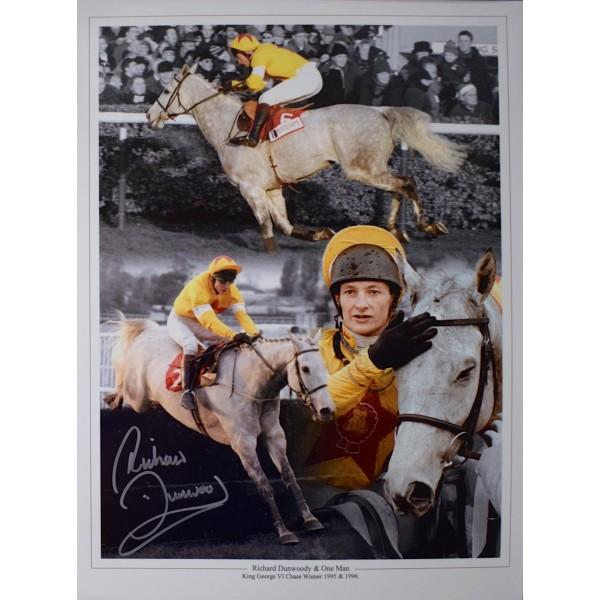 Richard Dunwoody SIGNED 16x12 Photo Autograph Horse Racing Sport AFTAL & COA