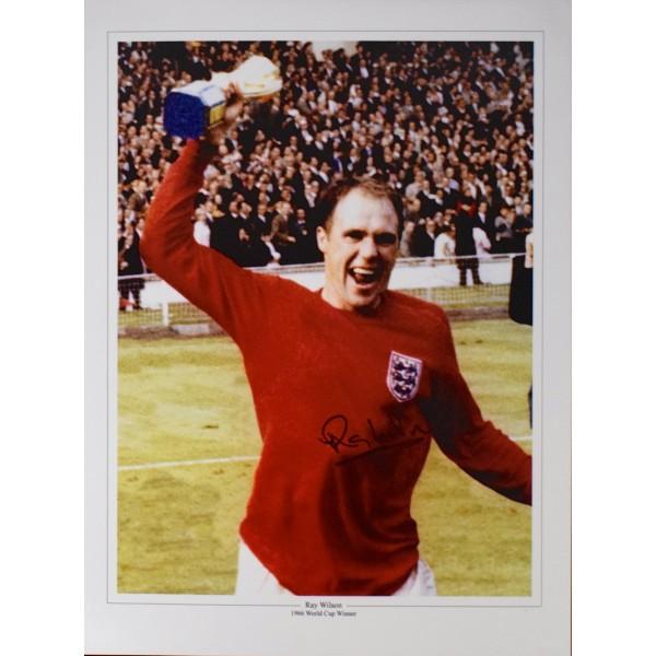 Ray Wilson SIGNED 16x12 Photo Autograph England World Cup 1966 Football & COA  Perfect Gift Memorabilia