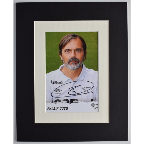 Philip Cocu Signed Autograph 10x8 photo display Derby County Football AFTAL COA Perfect Gift Memorabilia