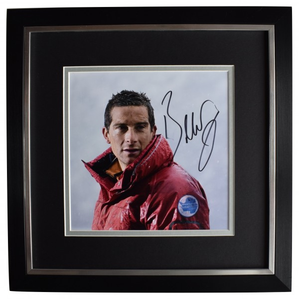 Bear Grylls Signed Framed LARGE Square Photo Autograph Man v Wild TV AFTAL COA  Perfect Gift Memorabilia