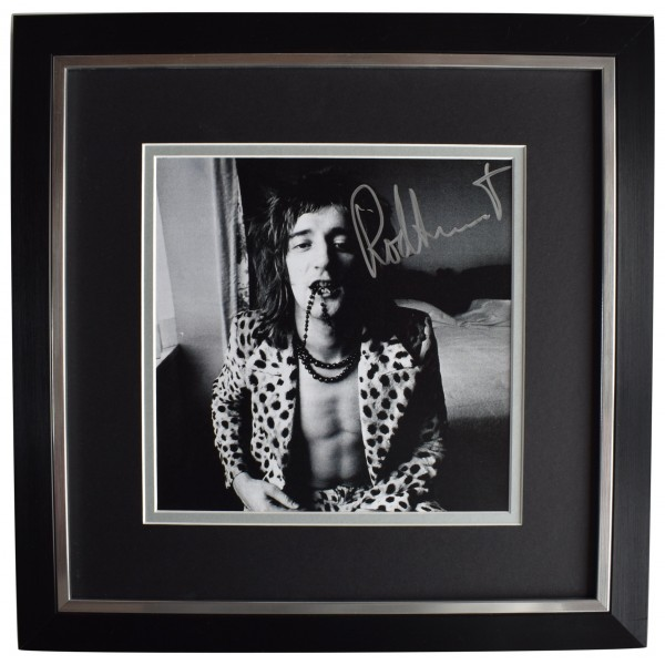 Rod Stewart Signed Framed LARGE Square Photo Autograph Music Faces AFTAL COA Perfect Gift Memorabilia