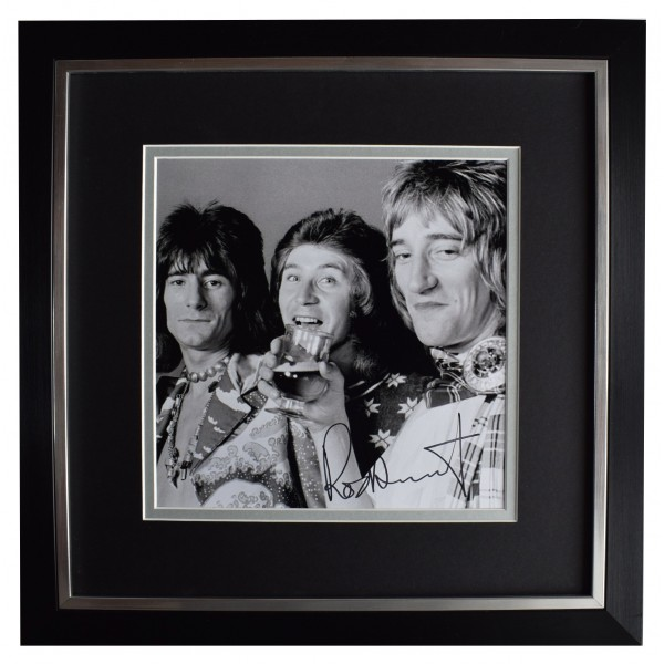 Rod Stewart Signed Framed LARGE Square Photo Autograph Music Faces AFTAL & COA Perfect Gift Memorabilia