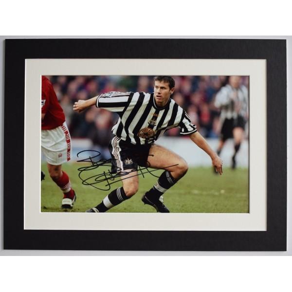 Rob Lee Signed autograph 16x12 photo display Newcastle United Football AFTAL  Perfect Gift Memorabilia