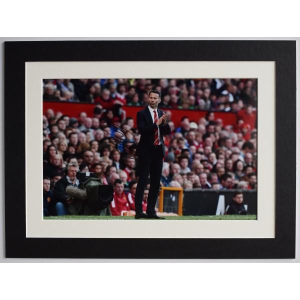 Ryan Giggs Signed autograph 16x12 photo display Man United Football AFTAL COA Perfect Gift Memorabilia