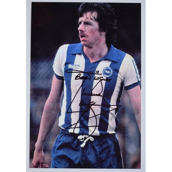 Mark Lawrenson Signed 12x8 Photo Autograph Brighton Hove Albion Football COA Perfect Gift Memorabilia
