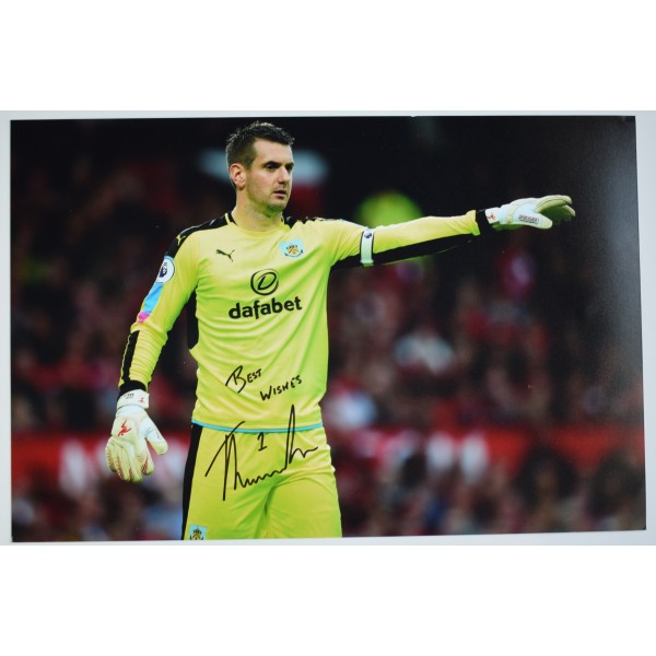 Tom Heaton Signed 12x8 Photo Autograph Signature Burnley Football AFTAL COA Perfect Gift Memorabilia