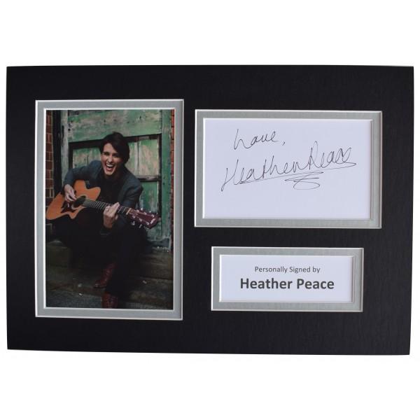 Heather Peace Signed Autograph A4 photo mount display TV Music Actress AFTAL COA Perfect Gift Memorabilia