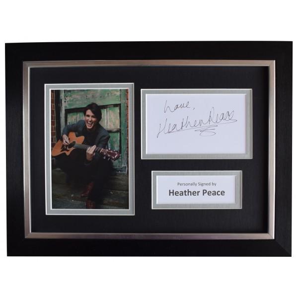 Heather Peace Signed A4 Framed Autograph Photo Display TV Waterloo Road COA Perfect Gift Memorabilia