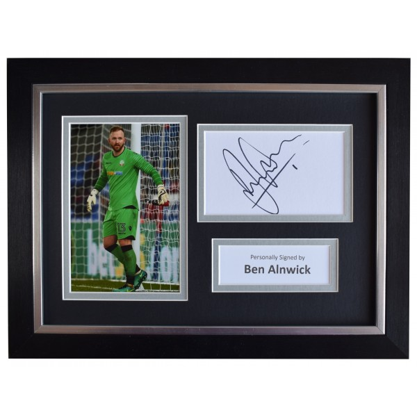 Ben Alnwick Signed A4 Framed Autograph Photo Display Bolton Wanderers AFTAL COA Perfect Gift Memorabilia