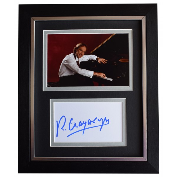 Richard Clayderman Signed 10x8 Framed Autograph Photo Display Music Piano AFTAL Perfect Gift Memorabilia