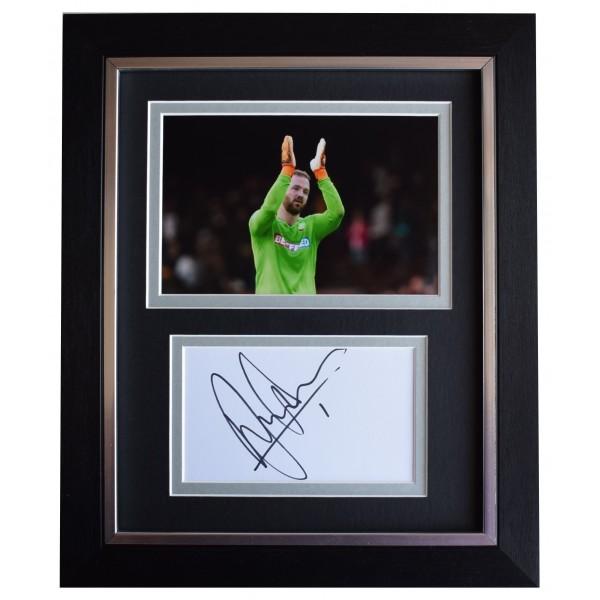 Ben Alnwick Signed 10x8 Framed Autograph Photo Display Bolton Wanderers COA Perfect Gift Memorabilia