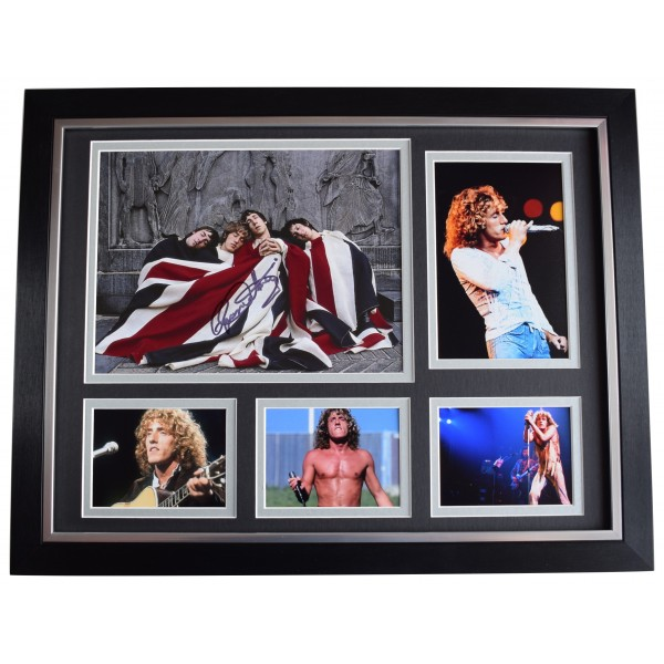 Roger Daltrey Signed Autograph 16x12 framed photo display The Who Music COA Perfect Gift Memorabilia