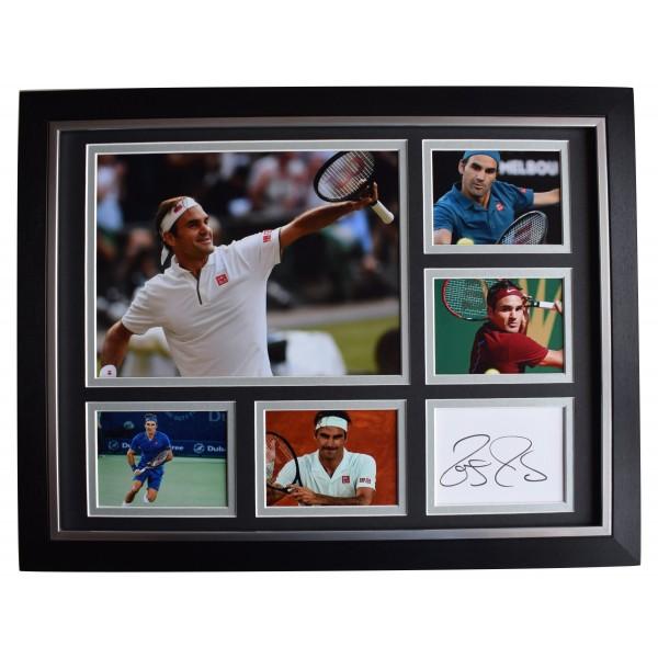 Roger Federer Signed Autograph 16x12 framed photo display Tennis Sport COA Perfect Gift Memorabilia