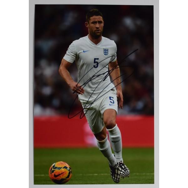 Gary Cahill Signed 12x8 Photo Autograph Signature England Football AFTAL COA Perfect Gift Memorabilia