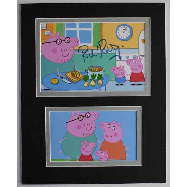 Rich Ridings Signed Autograph 10x8 photo display TV Daddy Pip Peppa AFTAL COA Perfect Gift Memorabilia