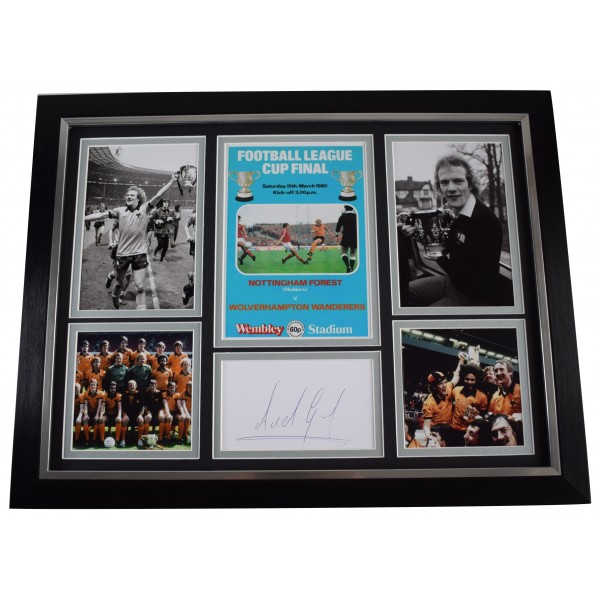 Andy Gray Signed Autograph framed 16x12 photo display Wolves 1980 League Cup COA AFTAL Perfect Gift Memorabilia