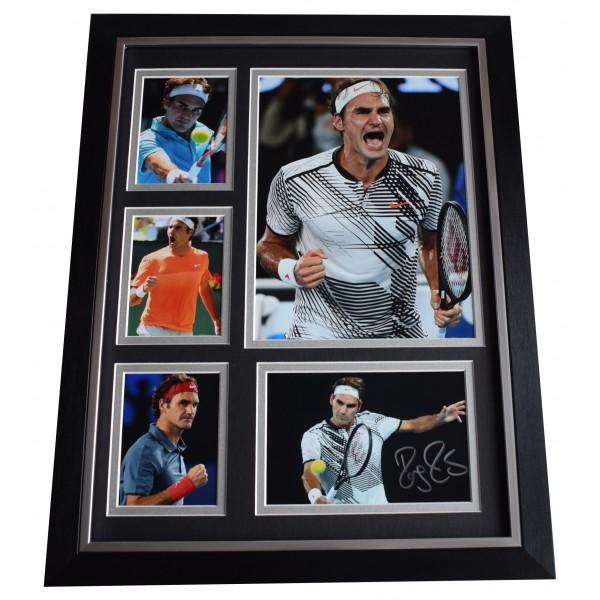 Roger Federer Signed Autograph 16x12 framed photo display Tennis Memorabilia COA Perfect Gift Memorabilia