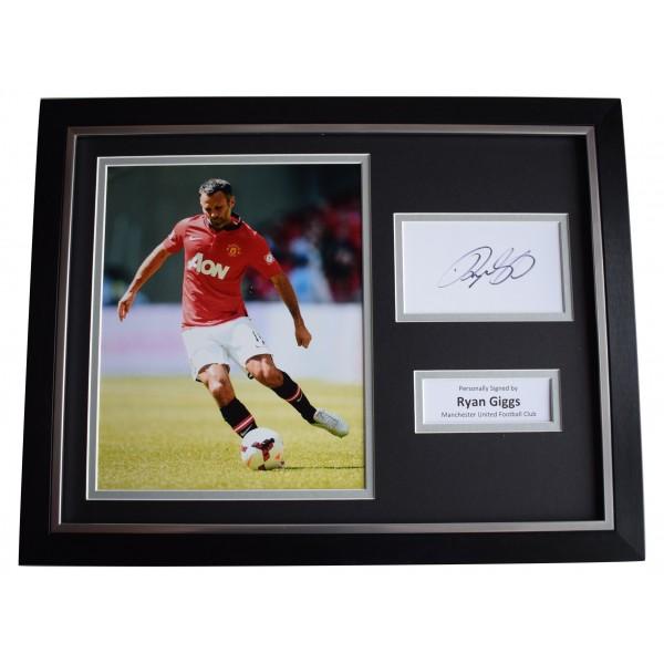 Ryan Giggs Signed Autograph 16x12 framed photo display Manchester Utd COA Perfect Gift Memorabilia