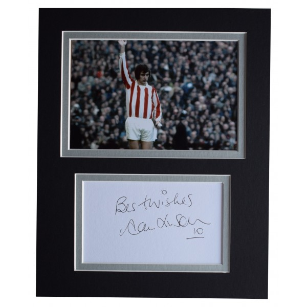 Alan Hudson Signed Autograph 10x8 photo display Stoke City Football AFTAL COA Perfect Gift Memorabilia