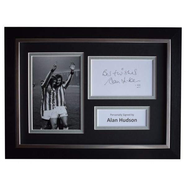 Alan Hudson Signed A4 Framed Autograph Photo Display Stoke City Football COA Perfect Gift Memorabilia