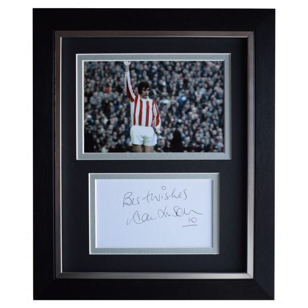 Alan Hudson Signed 10x8 Framed Autograph Photo Display Stoke City AFTAL COA Perfect Gift Memorabilia