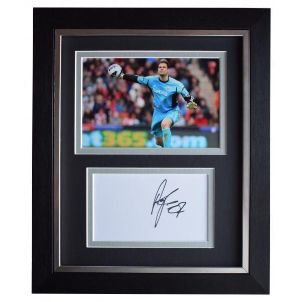 Asmir Begovic Signed 10x8 Framed Autograph Photo Display Stoke City AFTAL COA Perfect Gift Memorabilia