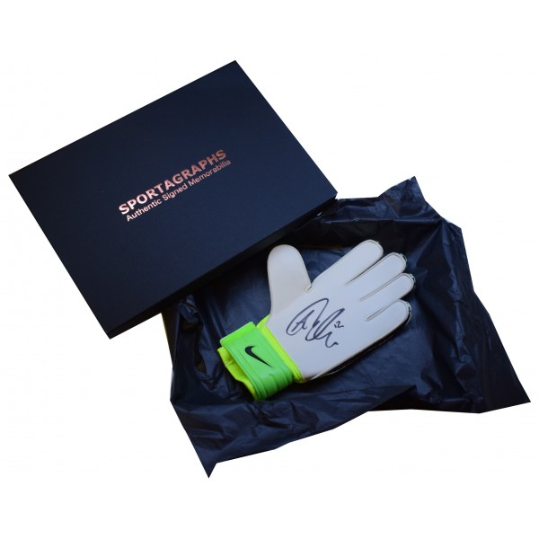 Aaron Ramsdale SIGNED Goalkeeper Glove Autograph Gift Box Bournemouth COA Perfect Gift Memorabilia