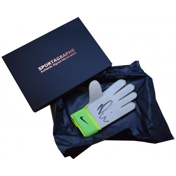 Nick Pope SIGNED Goalkeeper Glove Autograph Gift Box Burnley AFTAL COA Perfect Gift Memorabilia