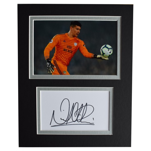 Neil Etheridge Signed Autograph 10x8 photo display Cardiff City AFTAL COA Perfect Gift Memorabilia
