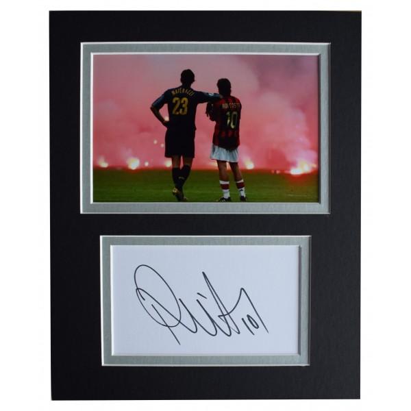 Rui Costa Signed Autograph 10x8 photo display A.C Milan Football AFTAL COA Perfect Gift Memorabilia