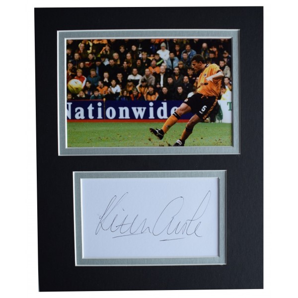 Keith Curle Signed Autograph 10x8 photo display Wolves Football AFTAL COA Perfect Gift Memorabilia