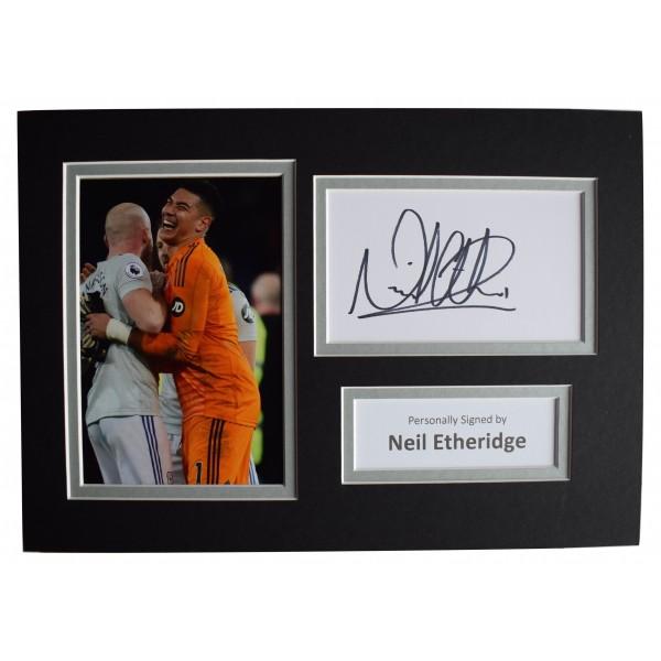 Neil Etheridge Signed Autograph A4 photo display Cardiff City Football AFTAL COA Perfect Gift Memorabilia