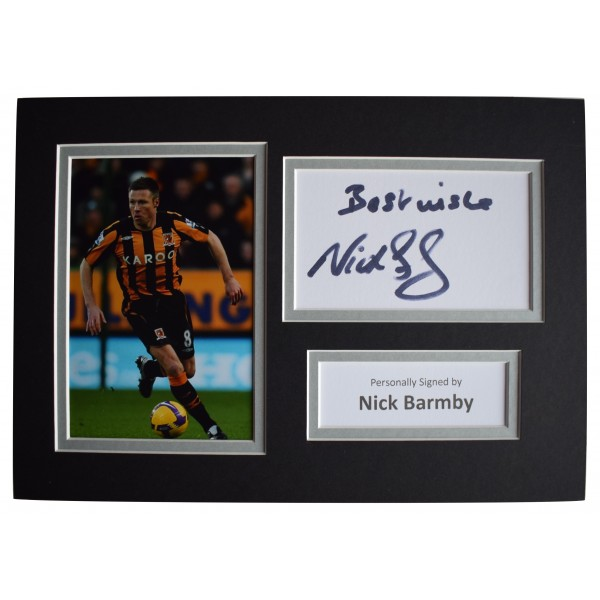 Nick Barmby Signed Autograph A4 photo display Hull City Football AFTAL COA  Perfect Gift Memorabilia