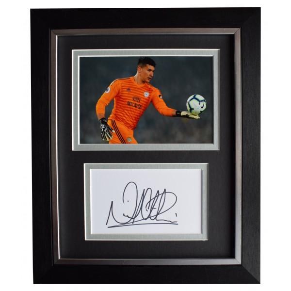 Neil Etheridge Signed 10x8 Framed Autograph Photo Display Cardiff City AFTAL COA Perfect Gift Memorabilia