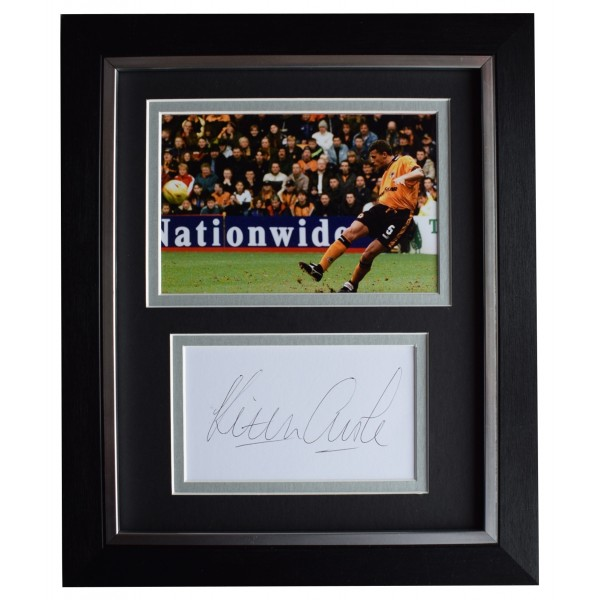 Keith Curle Signed 10x8 Framed Autograph Photo Display Wolves Football AFTAL COA Perfect Gift Memorabilia