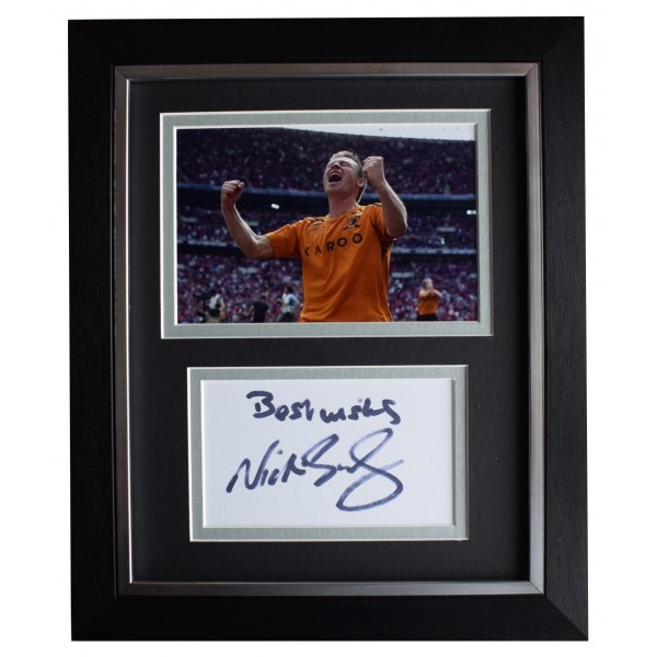 Nick Barmby Signed 10x8 Framed Autograph Photo Display Hull City AFTAL COA Perfect Gift Memorabilia