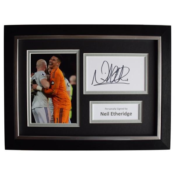Neil Etheridge Signed A4 Framed Autograph Photo Display Cardiff City COA  Perfect Gift Memorabilia