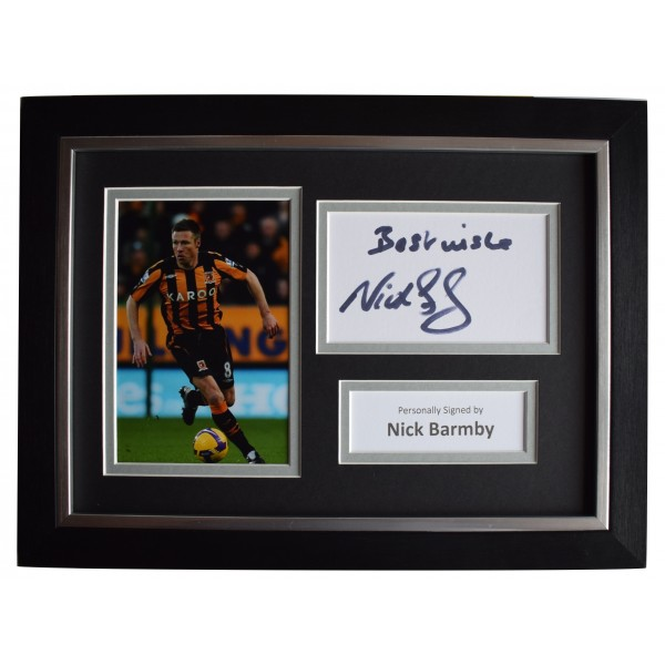 Nick Barmby Signed A4 Framed Autograph Photo Display Hull City Football COA Perfect Gift Memorabilia