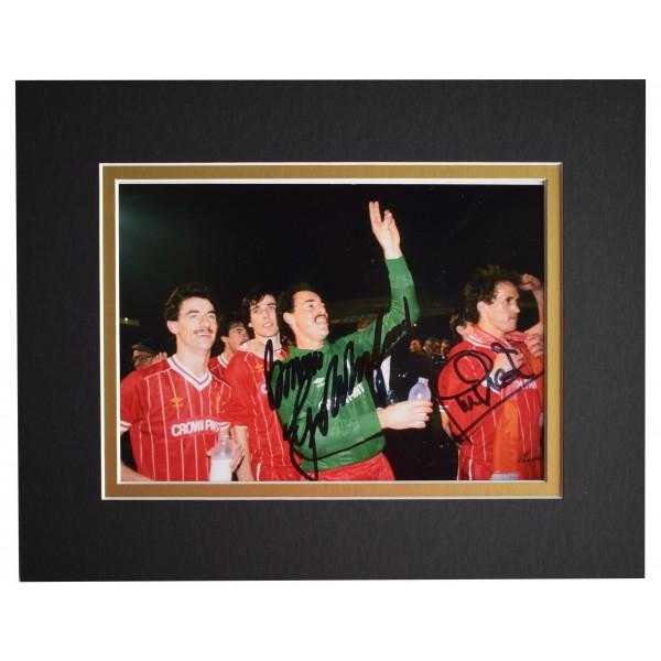 Bruce Grobbelaar & Phil Neal Signed Autograph 10x8 photo display Liverpool COA Perfect Gift Memorabilia