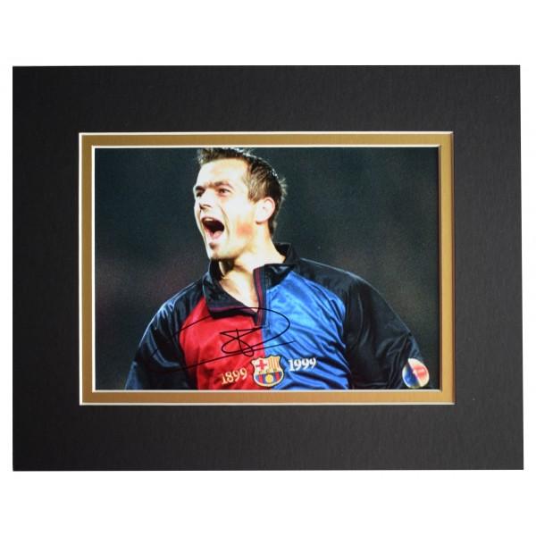 Philip Cocu Signed Autograph 10x8 photo display Barcelona Football AFTAL COA Perfect Gift Memorabilia