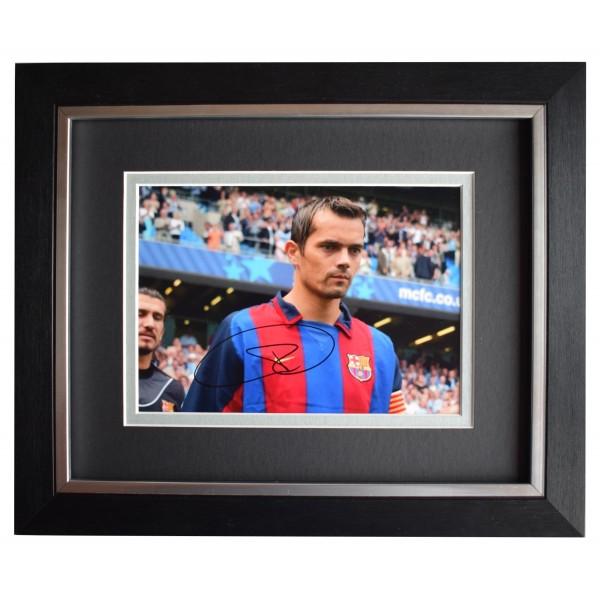 Phillip Cocu Signed 10x8 Framed Autograph Photo Display Barcelona AFTAL COA Perfect Gift Memorabilia