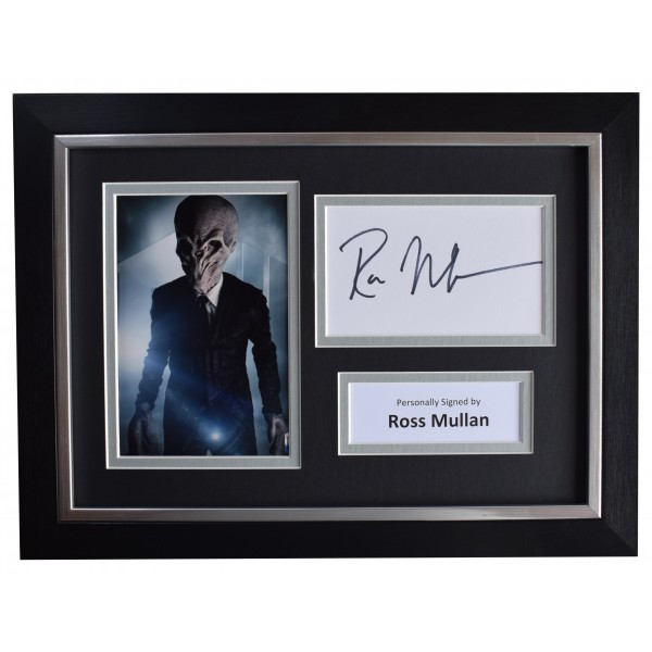Ross Mullan Signed A4 Framed Autograph Photo Display Doctor DR Who TV AFTAL COA  Perfect Gift Memorabilia