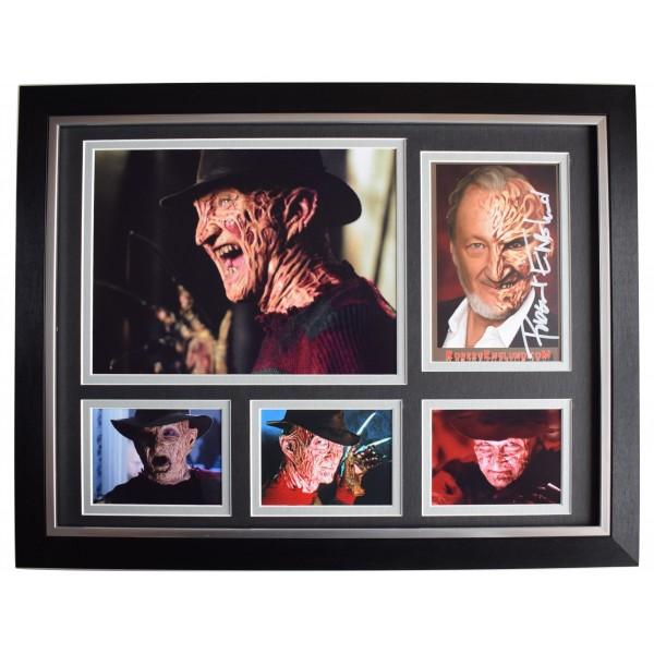 Robert Englund Signed Autograph 16x12 framed photo display Freddy Krueger COA Perfect Gift Memorabilia