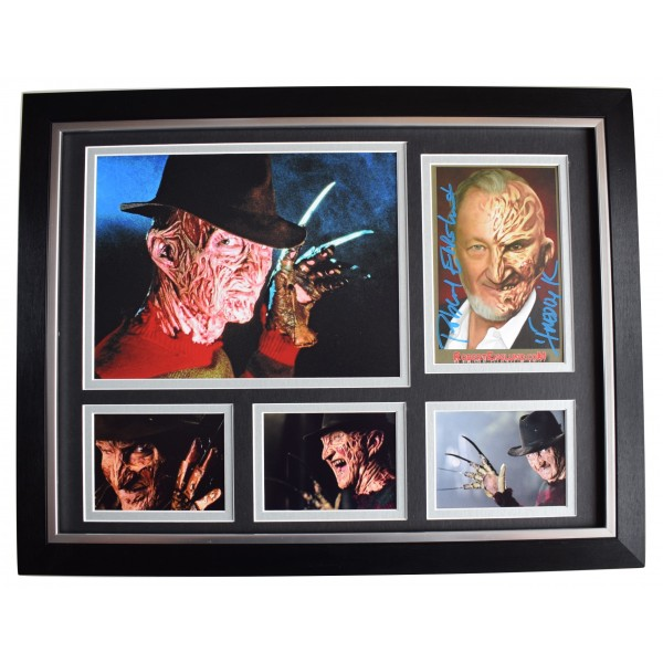 Robert Englund Signed Autograph 16x12 framed photo display Freddy Krueger & COA Perfect Gift Memorabilia