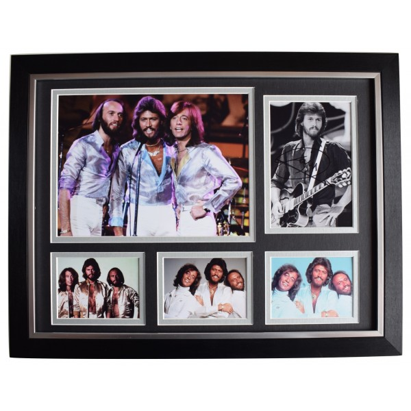 Barry Gibb Signed Autograph 16x12 framed photo display BeeGees Music AFTAL COA Perfect Gift Memorabilia